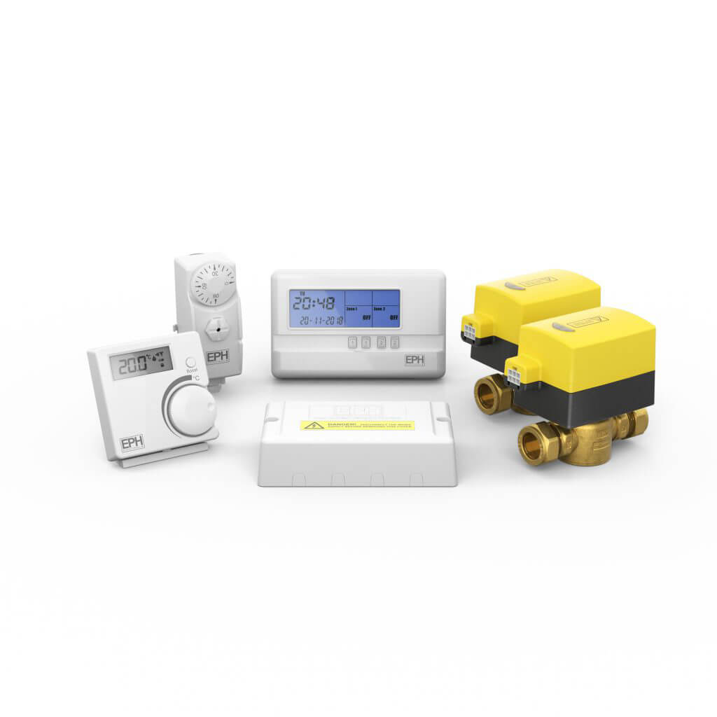 S Plan Rf Heating Control Pack With Hardwired Cylinder